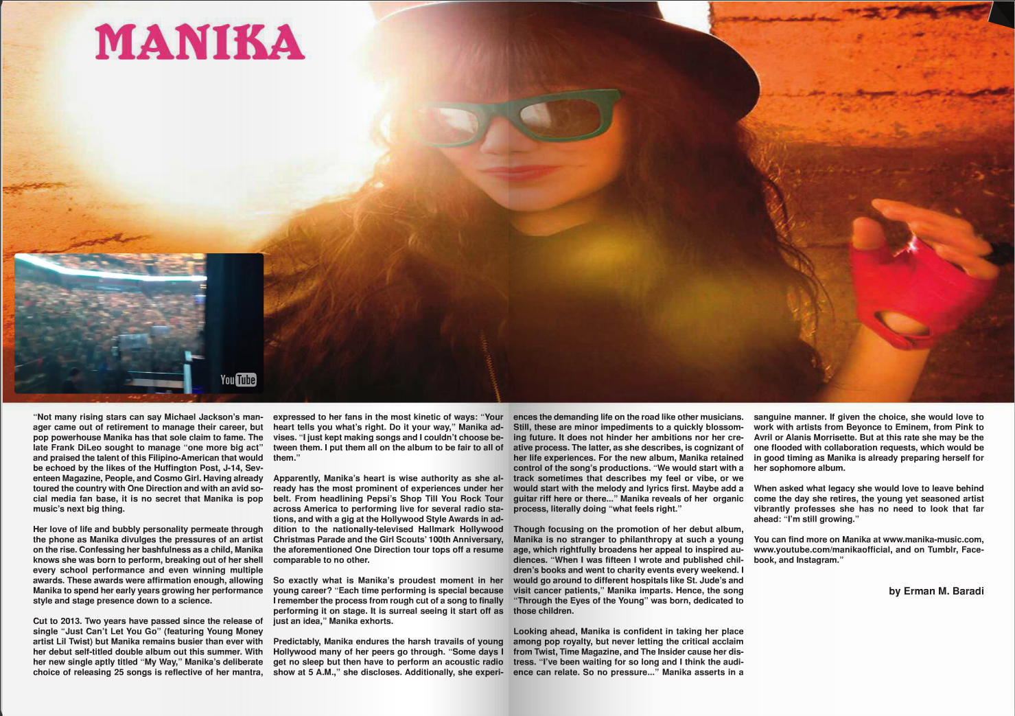 Manika Featured In Vents Magazine